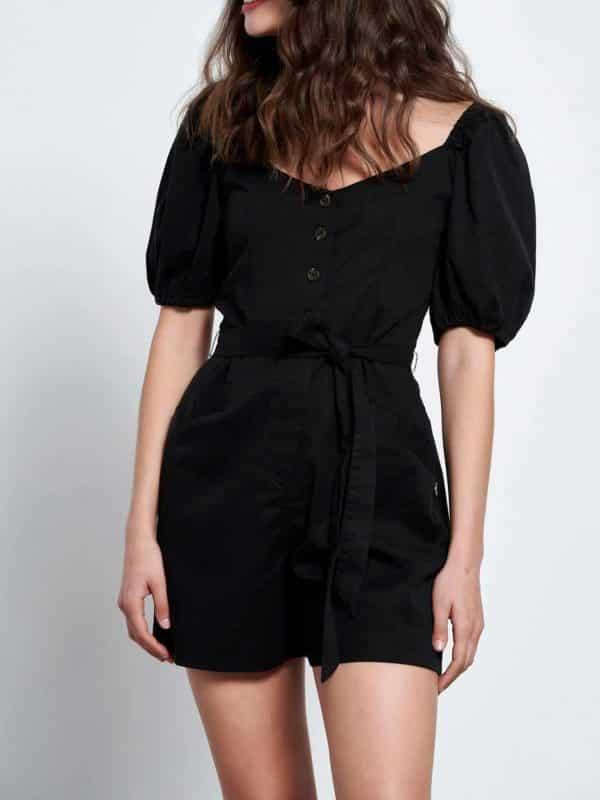 Ολόσωμη φόρμα με φουσκωτά μανίκια από lyocell