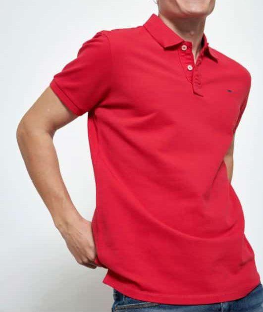 Essential μπλούζα πόλο από βαμβάκι πικέ