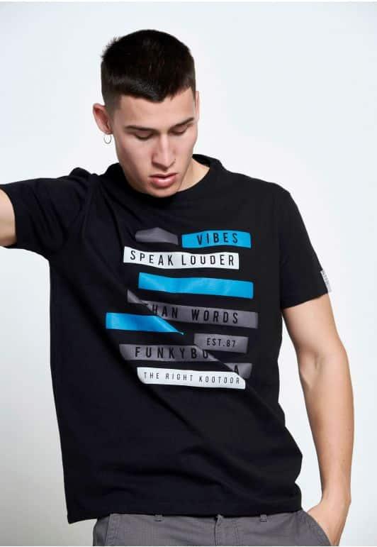 T-shirt με τύπωμα κέιμενο