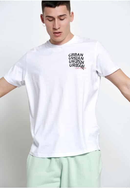 T-shirt με τύπωμα κειμένου oversized