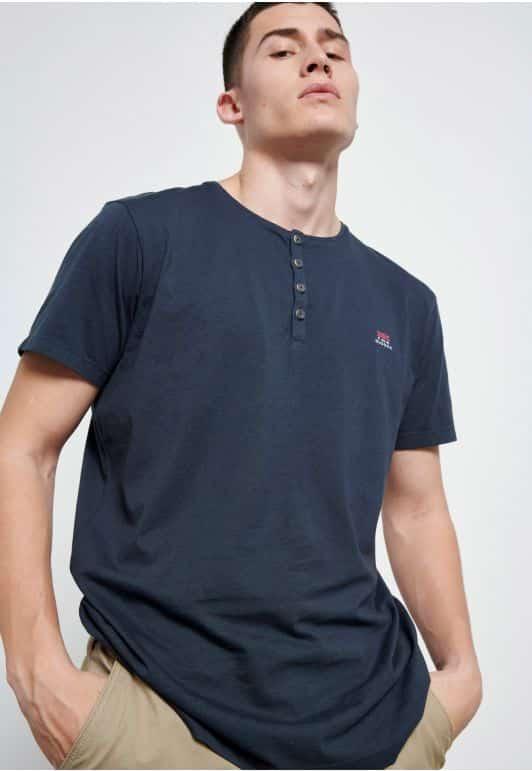 Essential t-shirt με λαιμό henley