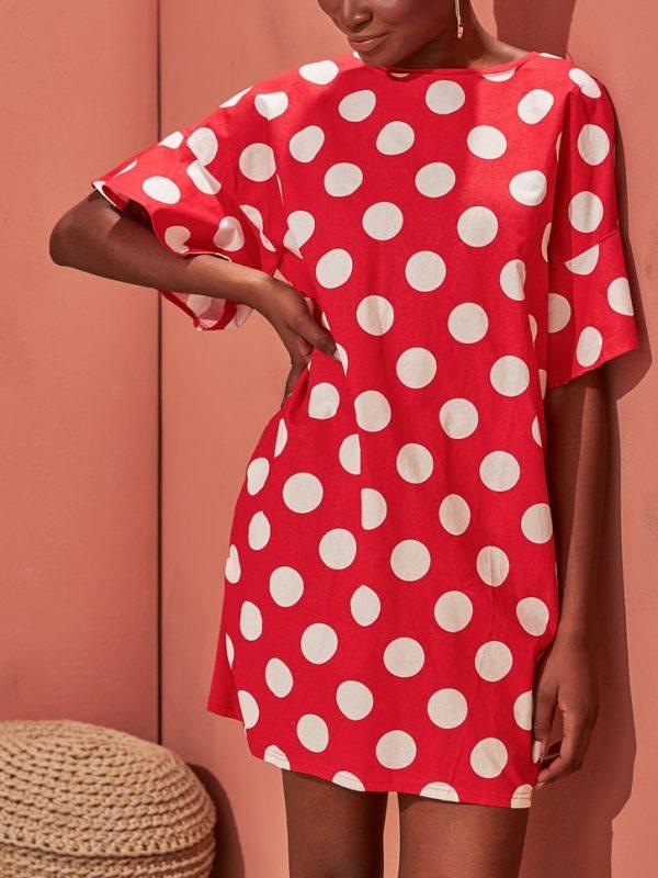 Φόρεμα μίνι polka dots