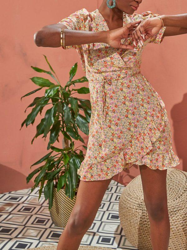 Φόρεμα liberty mini φερμουάρ πλάτης