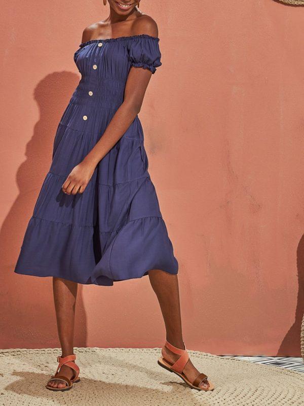 Φόρεμα έξω ώμοι μεσάτο