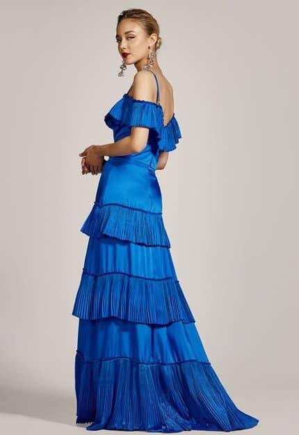 Μάξι φούστα με πλισέ τελείωμα