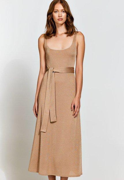 Αμάνικο glitter φόρεμα