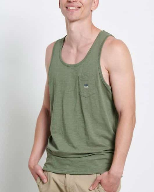 Αμάνικη μπλούζα με τσέπη στο στήθος