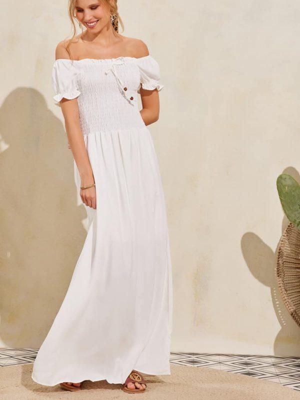 Φόρεμα maxi ελαστικό πάνω μέρος