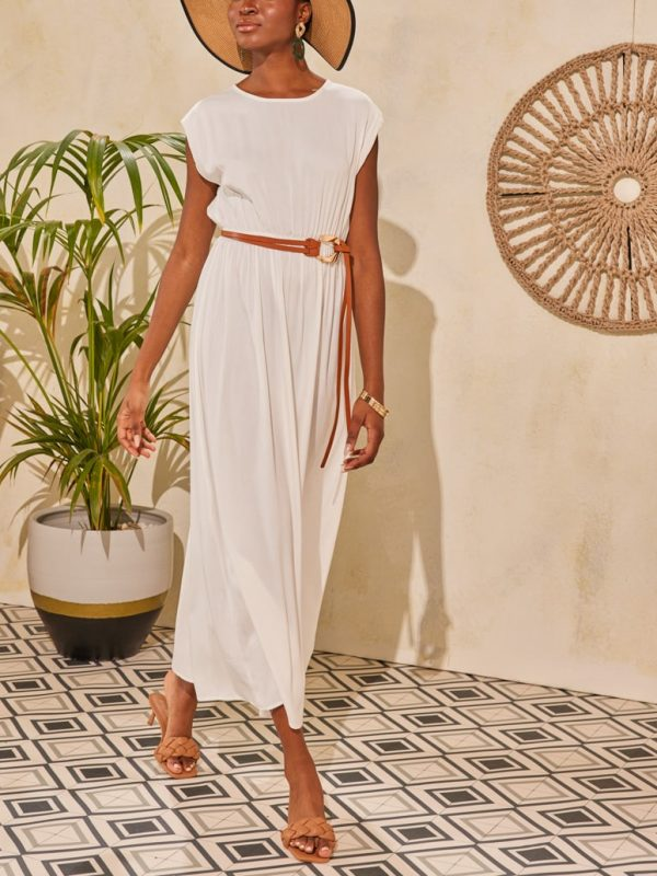Φόρεμα maxi με βάτες