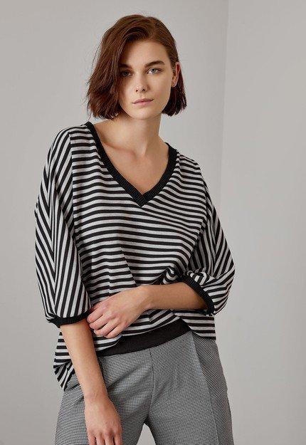 Μπλούζα oversized με ριγέ μοτίβο