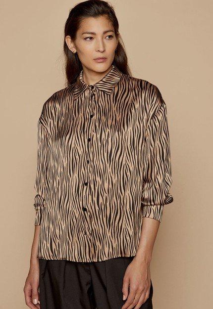 Πουκάμισο zebra print